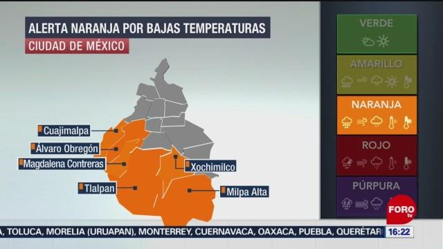 FOTO: activan alerta naranja por temperaturas congelantes en cdmx