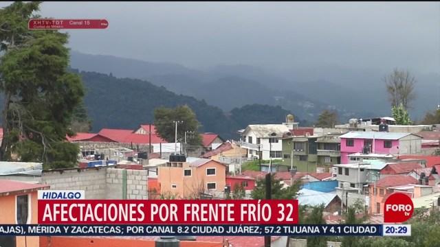 Foto: Afectaciones Bajas Temperaturas Frente Frío Hidalgo 22 Enero 2020