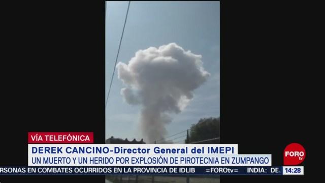 FOTO: al menos un muerto y un herido por explosion de pirotecnia en zumpango