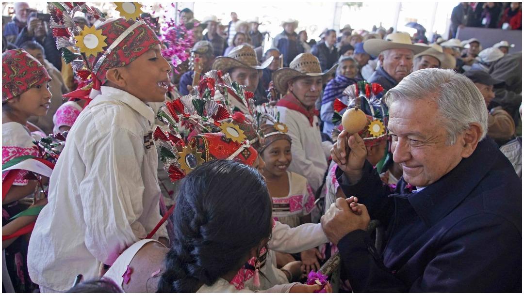 Foto: AMLO se comprometió a no fallarle a los pueblos indígenas, 5 de enero de 2020 (Presidencia)
