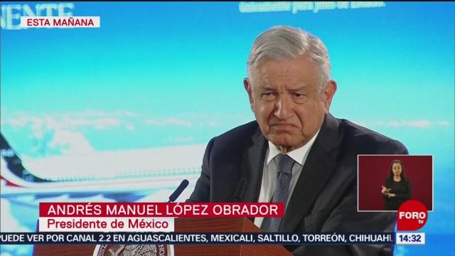 FOTO: amlo dice que podria rifar el avion presidencial a traves de la loteria nacional