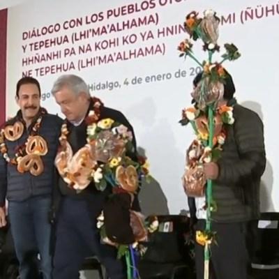 AMLO pide apoyo a indígenas para cuidar la entrega de apoyos sociales