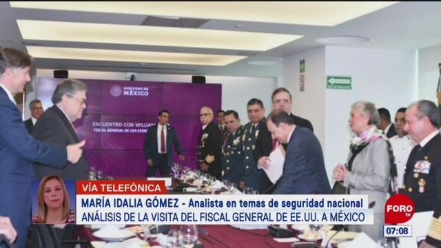analisis de la visita del fiscal general de estados unidos a mexico