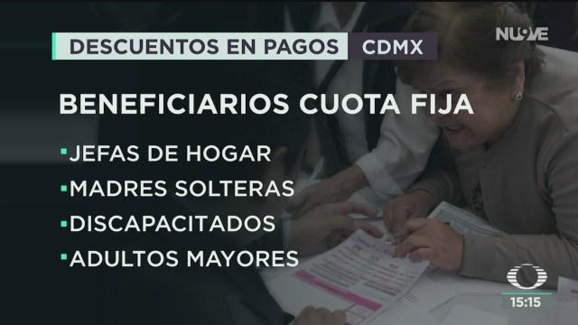 FOTO: anuncian plan de descuentos en impuestos en la cdmx