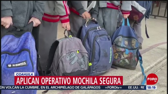 FOTO: aplican operativo mochila segura en coahuila