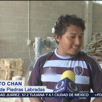 Artesanos mayas continúan tradición del labrado de piedras