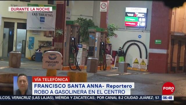 asaltan gasolinera en centro de la ciudad de mexico