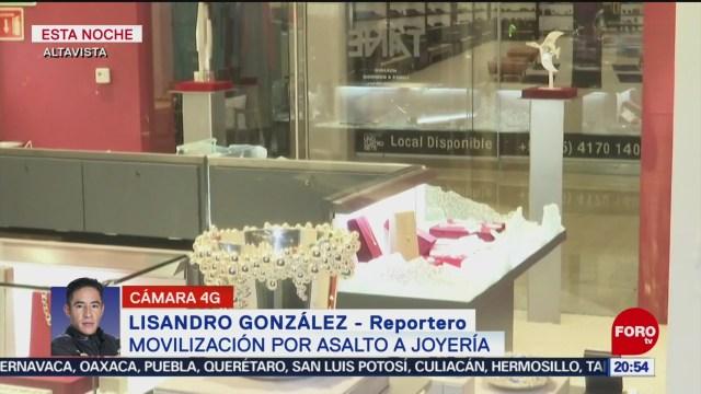 Foto: Asaltan Joyería Plaza Altavista Cdmx Hoy 30 Enero 2020
