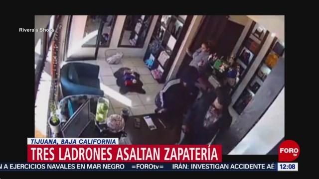 asaltan zapateria se llevan dineros zapatos y bolsas