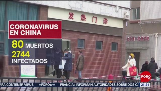 FOTO: 26 enero 2020, ascienden a 80 los muertos por coronavirus en china