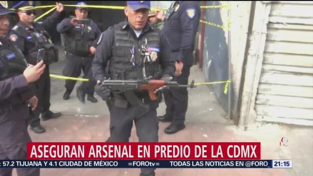 Foto: Aseguran Arsenal Drogas Predio Cdmx 28 Enero 2020