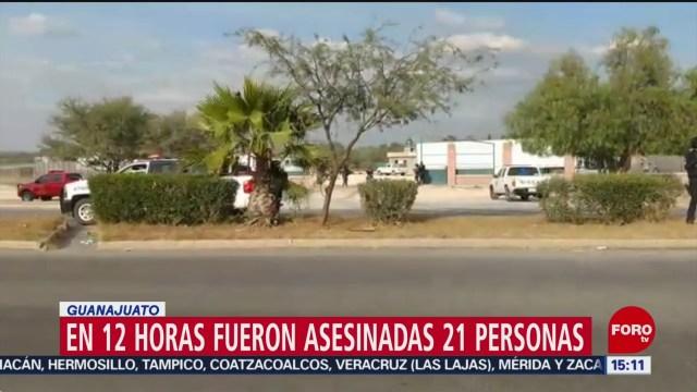 FOTO: asesinan a 21 personas en 12 horas en guanajuato