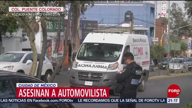 Foto: Este martes, hombres armados asesinaron a automovilista en calles de la alcaldía Álvaro Obregón, Ciudad de México 28 Enero 2020