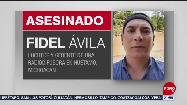 Foto: Locutor Gerente Fidel Ávila Asesinado 8 Enero 2020