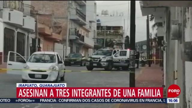 FOTO: asesinan a tres integrantes de una familia en irapuato