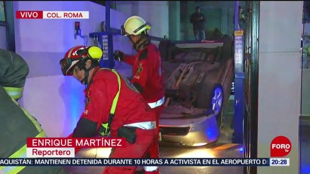 Foto: Auto Cae Rampa Estacionamiento Roma CDMX20 Enero 2020