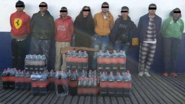 Detienen a ocho presuntos extorsionadores en Tlalpan