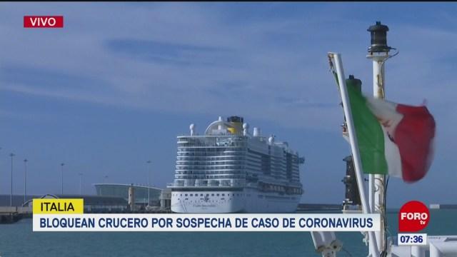 bloquean crucero por sospecha de caso de coronavirus en italia