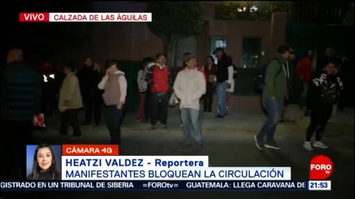 Foto: Bloqueo Dos Horas Calzada Las Águilas Cdmx 16 Enero 2020