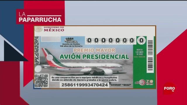 Foto: Boleto Lotería Rifar Avión Presidencial AMLO Mañanera 28 Enero 2020