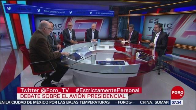 Debate sobre el avión presidencial