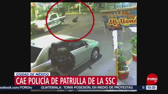 FOTO: cae policia de patrulla de la ssc ciudad de mexico