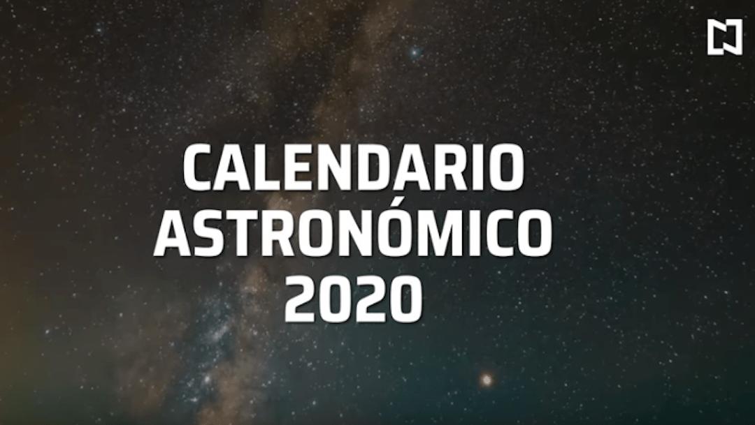 Foto Calendario astronómico 2020 Cuáles son los eventos más importantes del año 28 enero