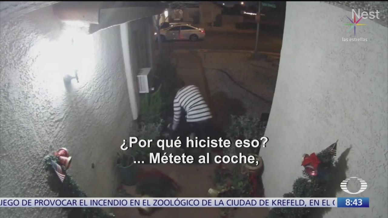 Foto: camara de seguridad graba golpiza a mujer en las vegas