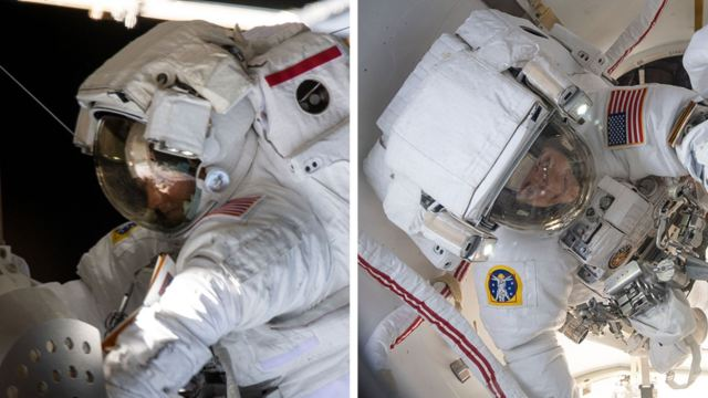 Foto: Las astronautas Christina Koch y Jessica Meir realizaron hoy la primera caminata espacial de 2020.