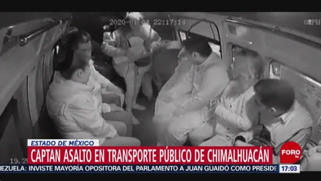 FOTO: captan asalto en transporte publico en chimalhuacan