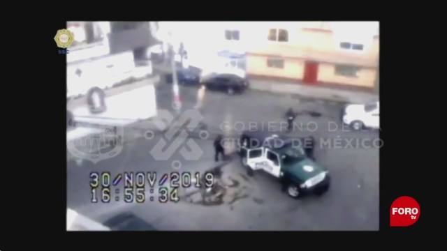 FOTO: video detencion de asaltante en la alvaro obregon