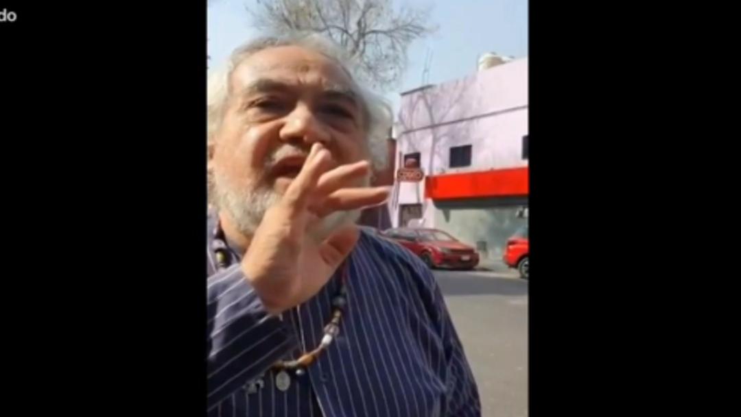 Foto: Presunto funcionario de la FGR amenaza a peatón, 16 de enero de 2020, (FOROtv)