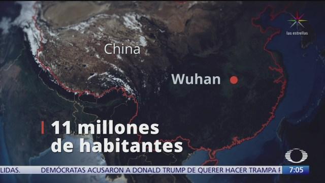 cercan la ciudad china de wuhan por coronavirus