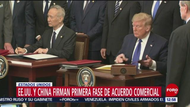 china y estados unidos firman primera fase del acuerdo comercial