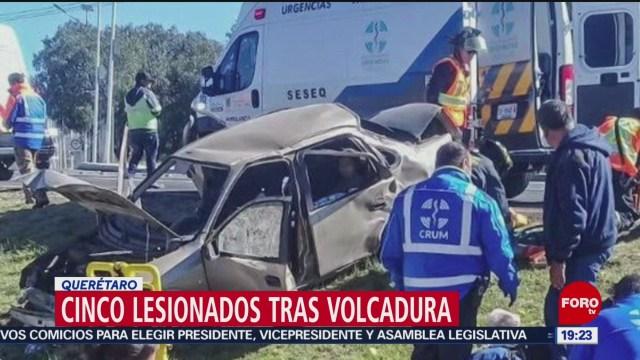 FOTO: 5 enero 2020, cinco heridos tras accidente en la queretaro san luis potosi