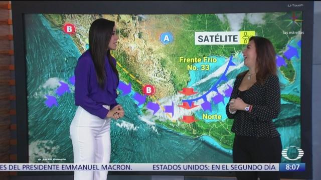 clima al aire frente frio 33 genera nubosidad en partes del pais