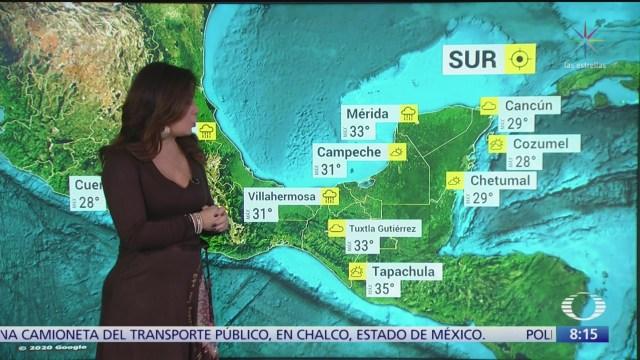 clima al aire prevaleceran condiciones de tiempo estable en la mayor parte de mexico