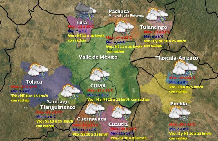 Foto:Pronóstico meteorológico para este domingo 19 de enero 2020