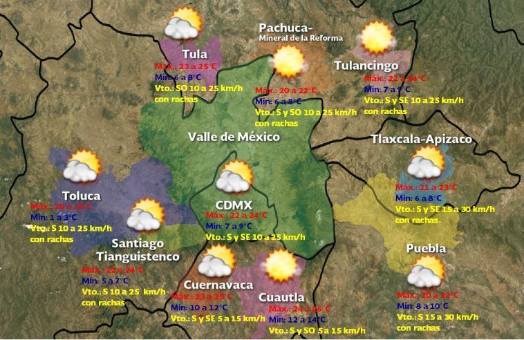 Foto: Pronóstico meteorológico para este sábado 25 de enero