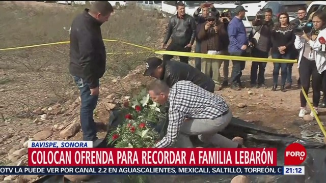 Foto: Colocan Ofrenda Masacre Familia Lebarón 13 Enero 2020