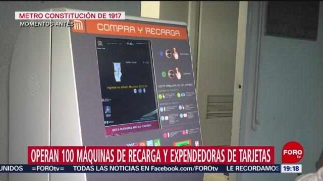 Foto: Máquinas Recarga Venta Tarjetas Metro Cdmx 16 Enero 2020