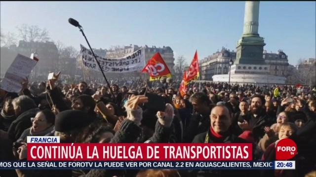 Foto: Huelga Reforma Jubilaciones Francia 6 Enero 2020