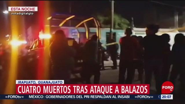 Foto: Irapuato Guanajuato Ataque Balazos Cuatro Muertos 28 Enero 2020