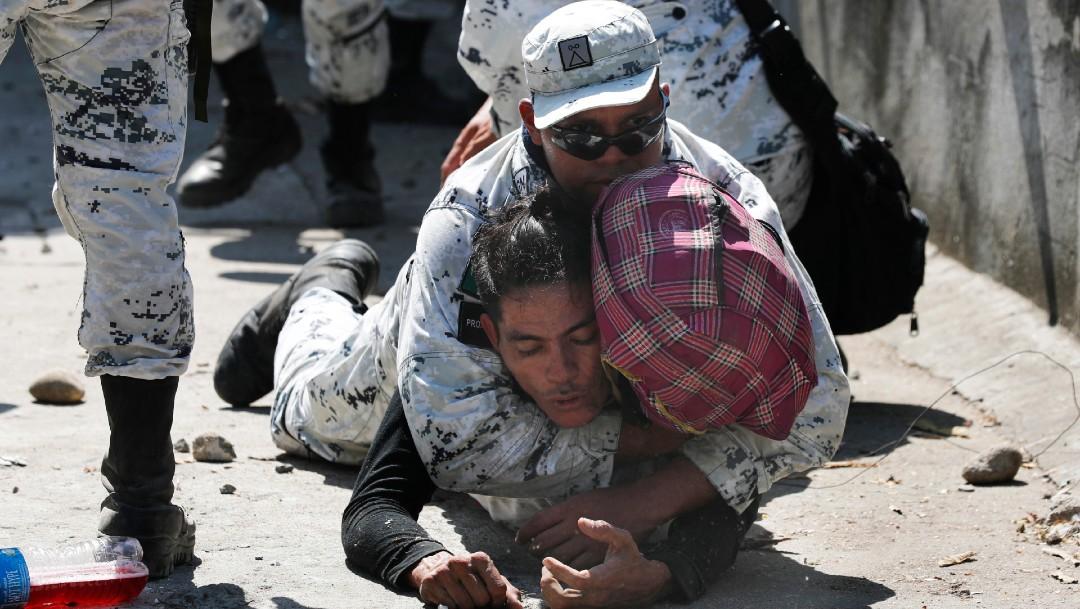 Foto: Defiende AMLO actuación de Guardia Nacional frente a migrantes