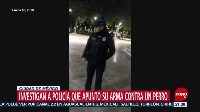 Foto: Policía Amenazó Arma Perro Alameda Destituido 20 Enero 2020