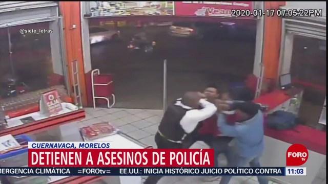 detienen a asesinos de policia en cuernavaca morelos