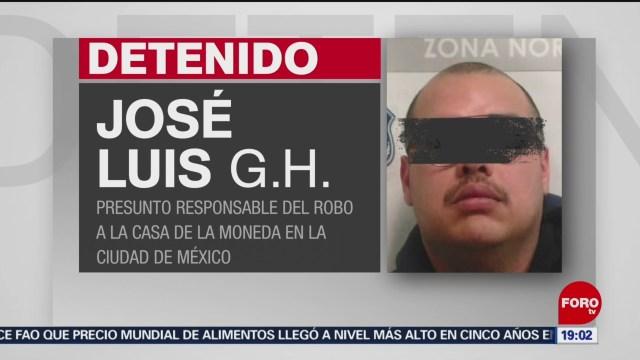 Foto: Detienen Implicado Robo Casa De Moneda 9 Enero 2020