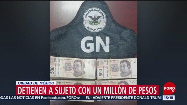 FOTO: 19 enero 2020, detienen a una persona con un millon de pesos en cuajimalpa