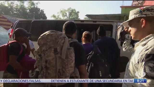 diez migrantes centroamericanos se entregan a autoridades en mexico