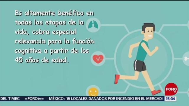 FOTO: ejercicio aerobico impacta positivamente la funcion cognitiva